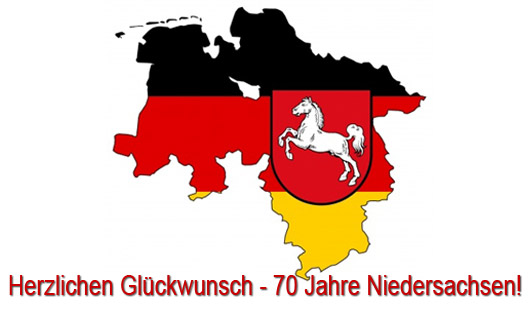 herzlichen Glückwunsch - 70 Jahre Niedersachsen