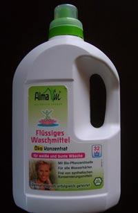 Biowaschmittel Alma Win – flüssiges Waschmittel Öko-Konzentrat im Test