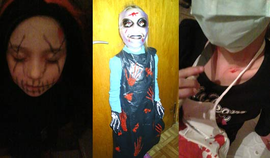 Halloween: Gruselverkleidungen - Sitch, Müllsack-Monster, Doktor des Grauens