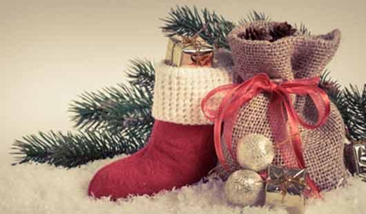 Der Nikolausstiefel als Ort für Geschenk