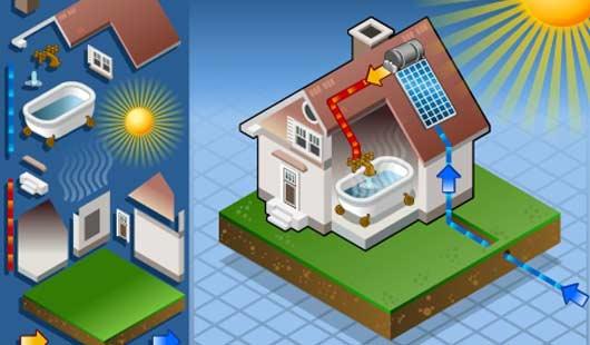 Solarthermie für Warmwasser im Haus