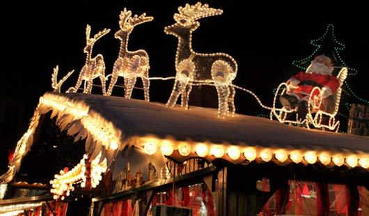 Weihnachtsmärkte mit Santa Claus