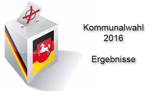 Ergebnisse Kommunalwahl 2016 in Niedersachsen
