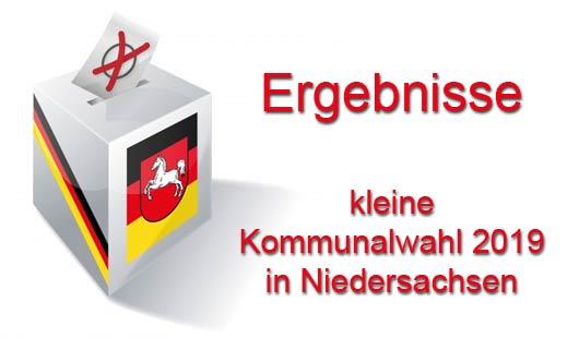 Ergebnisse Kommunalwahl 2019 in Niedersachsen