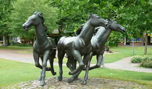 Pferdestatue in Aurich