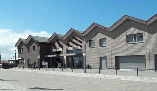 Das Fährhaus für die Verbindung Bensersiel-Langeoog