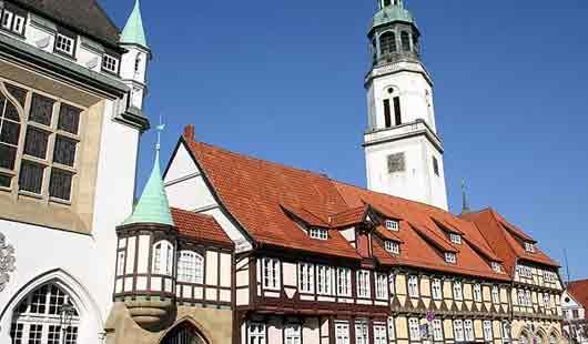 Die Altstadt von der Residenzstadt Celle ist wunderschön