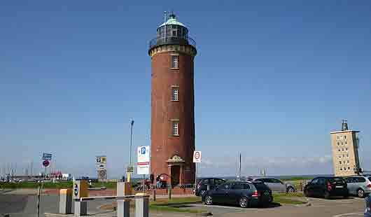 Sehenswürdigkeit in Cuxhaven - der Hamburger Leuchtturm