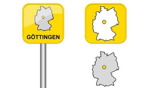 Göttingen liegt im Südosten von Niedersachsen