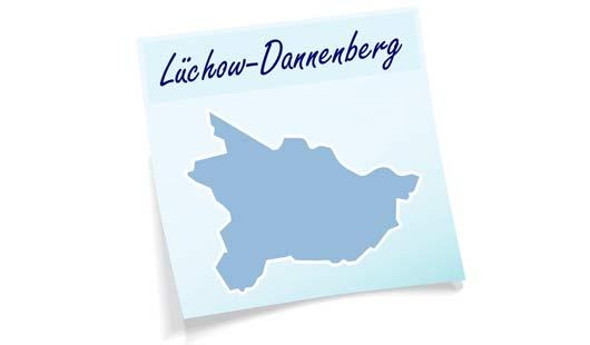 Landkreis Lüchow-Dannenberg mit Umrisskarte