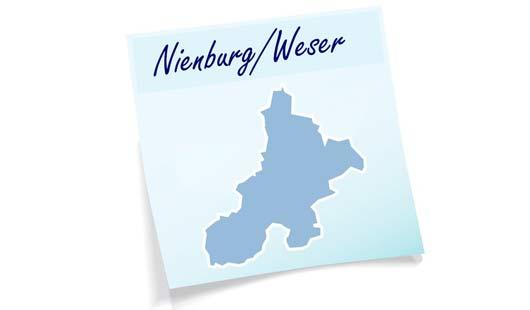 Landkreis Nienburg - Umrisskarte