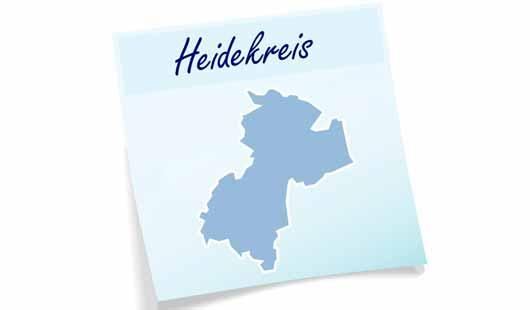 Landkreis Heidekreis - Karte mit Umriss