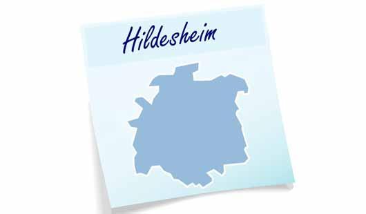 Landkreis Hildesheim - Karte mit Umriss