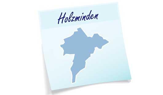 Landkreis Holzminden - Umrisse des Gebietes