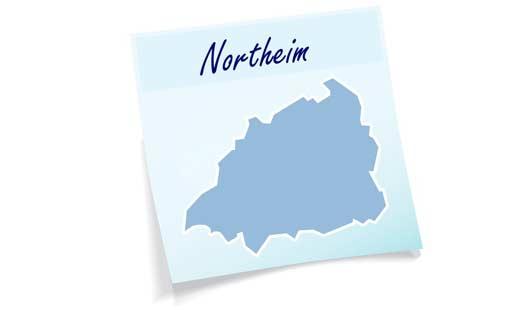Landkreis Northeim - Umrisse des Gebietes