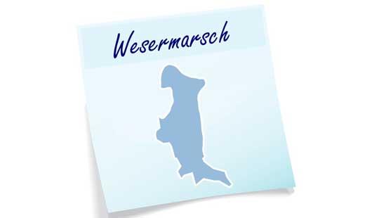 Umrisse/Karte Landkreis Wesermarsch