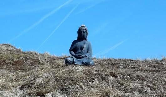 Die Buddha-Statue in den Dünen