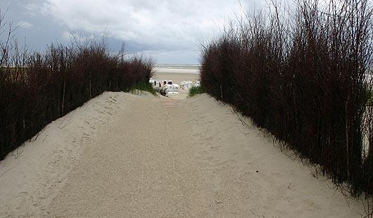 Spiekeroog - Aufgang zum Strand