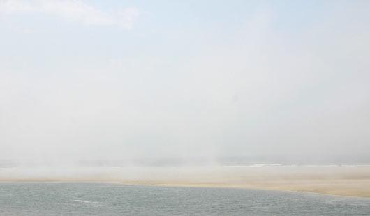 Naturgewalt Seenebel über dem Wattenmeer