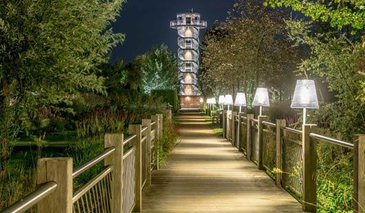 Illuminierter Garten in Bad Zwischenahn - Foto: Park der Gärten