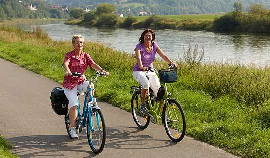 Weser-Radweg - beliebte Strecke für Radwanderer