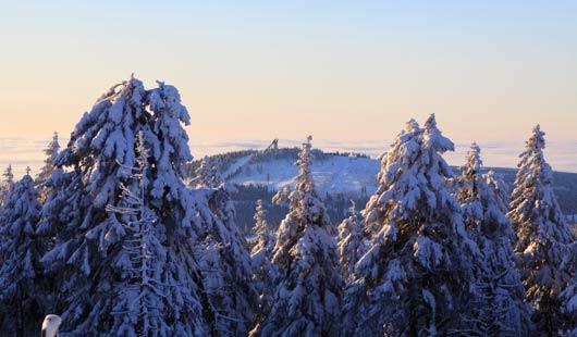 Winterurlaub im Harz - Blick auf den Wurmberg