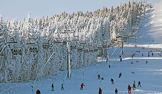 Aktuelle Wintersportbedingungen im Harz - offizielles Foto vom Wurmberg