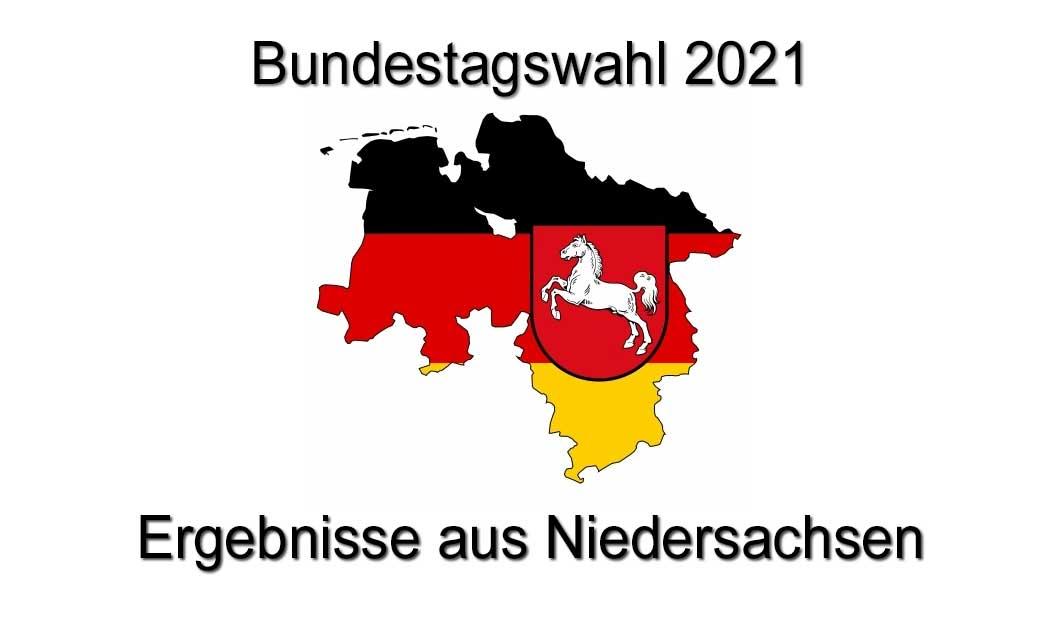 Bundestagswahl 2021 - Ergebnisse aus Niedersachsen
