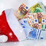 Geldregen zu Weihnachten