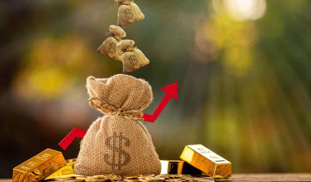 Geldsäckchen: Eine frühe Anlage zahlt sich aus