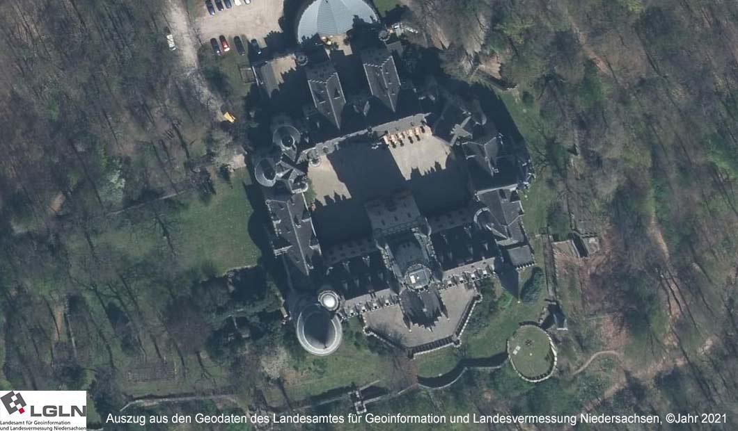 Schloss Marienburg - Luftbild