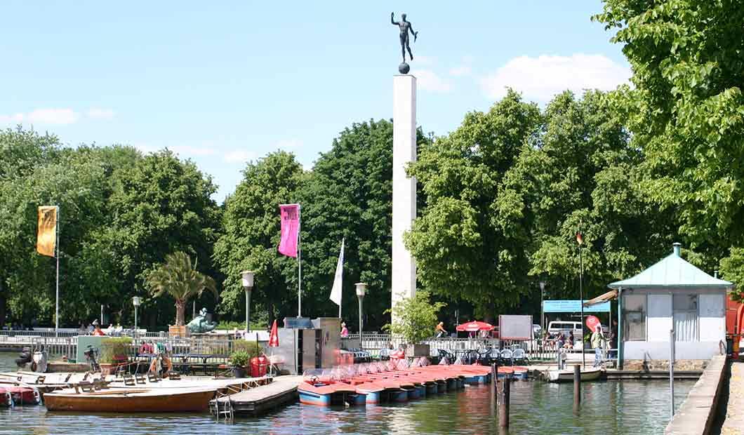 Nordufer des Maschsees in Hannover - Erholen am Stadtsee