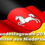 Bundestagswahl 2013 – das Ergebnis aus Niedersachsen inkl Wahlkreise