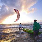 Kiten am Strand von Baltrum