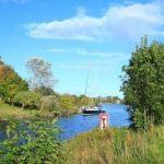Wangerland - Urlaub an der Nordsee - Kutter auf Kanal