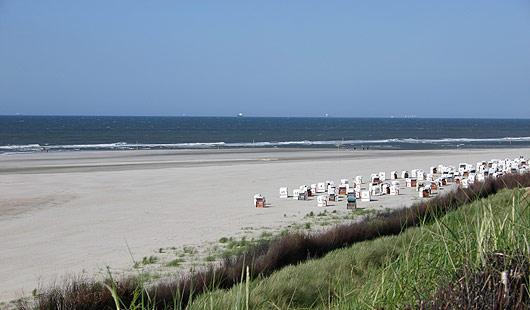 Spiekeroog - Strand bei Sonnenschein