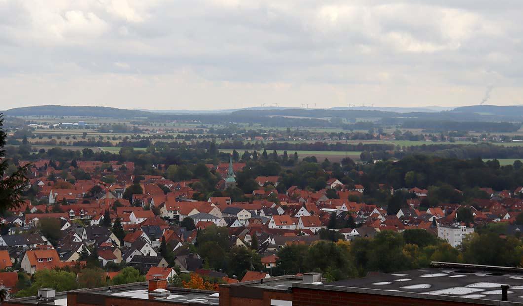 Blick über Springes Altstadt