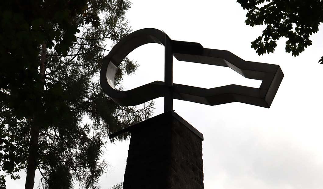 Glühbirne als Denkmal