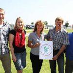 Campingplatz Schillig: Übergabe des Gütesiegels